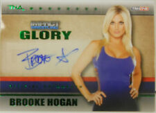 2013 TNA Impact Wrestling Glory Brooke Hogan SP Green Autograph # 4 / 5