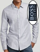 NWT Hugo Boss Black Label by Hugo Boss Striped Regular Fit Casual Sport Shirt