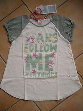 (C349) Nolita Pocket Girls Shirt A-Form mit Druck & Gummi Glitzer Sternen gr.128