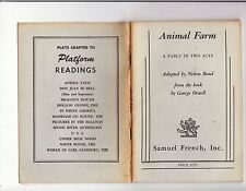 *uncmn* ANIMAL FARM:  A FABLE IN TWO ACTS (play)-1964-NELSON BOND-VINTAGE ED.
