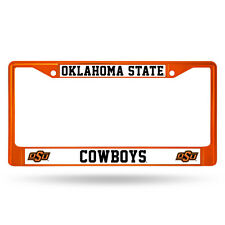 Oklahoma State Cowboys Orange Metal License Frame -NEW NCAA Auto Car Truck Plate