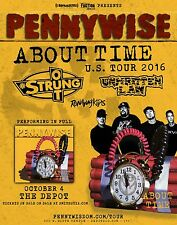 """PENNYWISE/STRUNG OUT """"ABOUT TIME U.S. TOUR 2016"""" SALT LAKE CONCERT POSTER- Punk"""