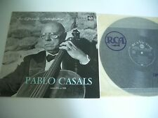 LES GRANDS INTERPRETES LP PABLO CASALS  CELLO. RCA VICTOR 430.396 BIEM FRENCH .