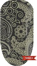 Nail WRAPS Nail Art Water Transfers Decals - Gold Paisley - W090