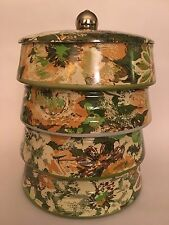 Vintage Mid Century Metal Stacking Canister Set