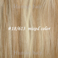 hair extensions clip in full set/ highlights 100% human hair black brown blonde