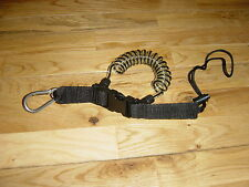( HEAVY DUTY COIL ) MARINE STAINLESS STEEL CARBINE WRIST COIL/COILED LANYARD