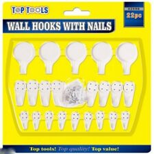 Wall Hooks With Nails 22pc Picture Frames Clock Mirror Hanging Tools