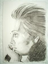 A4 Charcoal Sketch Drawing Adele Laurie Blue Adkins B