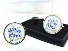 JAMES BOND 007 COAT OF ARMS C.O.A. SEAL BADGE MENS CUFFLINKS GIFT