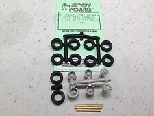 HO 1/87 Alloy Forms # 3039 Bud Disc Wheel Rims, Tires & Axles Set