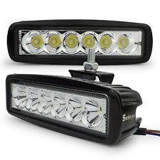 2X 6inch 18W LED WORK LIGHT bar Spot offroad 4X4 car SUV truck fog driving 27W