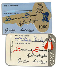Milton Berle Personally Owned Saints & Sinners Card