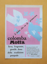 D341 - Advertising Pubblicità- 1959 - COLOMBA MOTTA LA TRADIZIONE PASQUALE