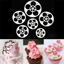 6xFondant Cake Sugar Craft Decor Cookie Rose Flower Mold Gum Paste Cutter ToolFG