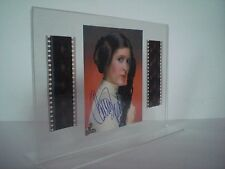 STAR WARS 4 - Prinzessin Leia - Carrie Fisher - Film-Cell-Collage signiert