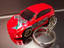 Red Subaru WRX STI Key Chain Ring Diecast 3D Custom Fob