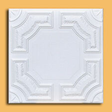 100 pcs lot of CARACAS White Decorative Ceiling Tile - EASY INSTALATION Glue up