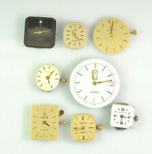 Lot of 8 not working watch movements FOR PARTS geneve, peugeot, Bulova, Zenith