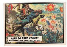 1962 TOPPS CIVIL WAR NEWS CARD #57 HAND TO HAND COMBAT