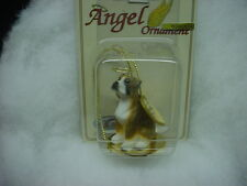 BOXER dog ANGEL Ornament Resin Figurine UNCROPPED BRINDLE puppy Christmas NEW