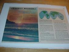 Vintage MY WEEKLY READER Newspaper-Level 5-April 1967-8 pgs: To Sea for Water