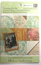 K&Company Ancestry.com  Designer Mat Pad 4.75x6.75 18 Double sided pages