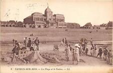 CPA 80 CAYEUX SUR MER PLAGE CASINO