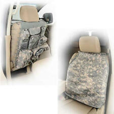 Pair G.E.A.R. Universal Truck Seat Covers with 7 Storage Pouches Camo 4WD Jeep