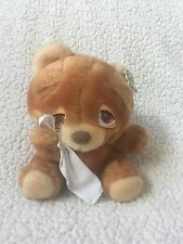 Vtg MATTEL EMOTIONS Brown Plush Stuffed Sad Crying BOO HOO Teddy BEAR 1983 8""