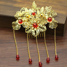 1PC Chinese Classical Women Hairpin Hair Comb Tassel Alloy Bride Accessories