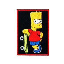 Bart Simpson Homer Cartoon Skateboard Shirt Jacket Cap Collectible IRON ON PATCH