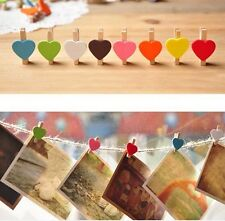 Good Quality 10 Pcs Wooden Mini Clip Wood Pegs Kids Crafts Party Favor Supply