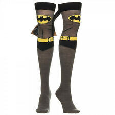 Womens ~ BATMAN THIGH HIGH SOCKS ~ with Cape NOVELTY SILLY FUNNY CRAZY COOL CUTE