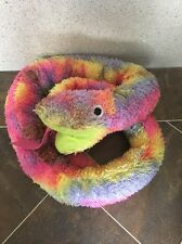 "IKEA Djungelorm Multicolour Tie Dye Hippy Snake Soft Plush Toy 70"" Long Rare VGC"
