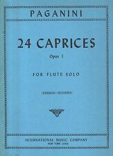 paganini - 24 caprices opus 1 for flute and solo -