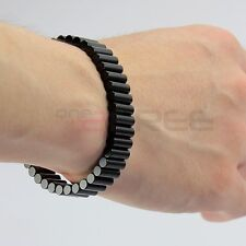 """New 8.5"""" Removable Black Magnetic Therapy Rare Earth Neodymium Magnet Bracelet"""