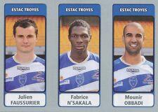 N°638 FAUSSURIER - N'SAKALA - OBBADI # ESTAC TROYES STICKER PANINI FOOT 2012