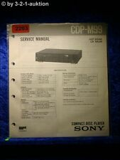 Sony Service Manual CDP M99 CD Player (#2283)