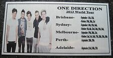 ONE DIRECTION  Australia Tour 2013 Plaque col Picture Free Postage****