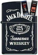 Zippo 3742 jack daniels old no 7 Lighter with *FLINT & WICK GIFT SET*