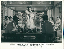 Madam Butterfly original lobby card men sitting at table in restaurant