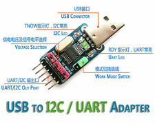 USB to I2C IIC UART TTL Master Adapter Converter STC ISP Download RS232, RS485