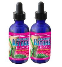 2 Pack Raspberry Ketone Lean Liquid Formula Fat Burner Weight Loss Keytones