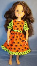 "Spidery Halloween dress for 18"" Best Friends Club BFC ink MGA dolls"