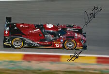 Kraihamer, Imperatori Hand Signed Rebellion Racing 12x8 Photo Le Mans 2016 11.