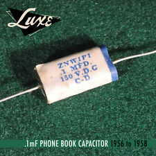 1956-1958 Phone Book: Wax Impregnated Paper & Foil .1mF  Cap for Fender Guitars