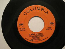 THE BRYDS-It Won't Be Wrong/Set You Free this Time 45 CDN 60s folk Rock oop L@@K