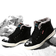 Men's Leather Winter Warm Fur Lining Low Top Snow Boot Ankle Shoes Sneakers39-48