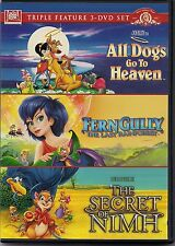 All Dogs Go To Heaven, Fern Gully, The Secret Of Nimh (Triple Feature) NEW
